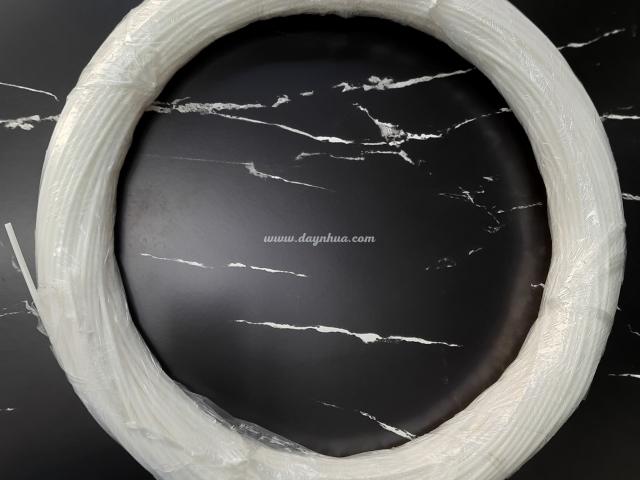 Dây tròn 3mm ( có lỗ) White-0268